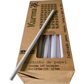 KURMA CANUDO PAPEL (8X21CM) BR C/10X100