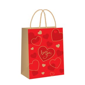 sacola de papel vermelha